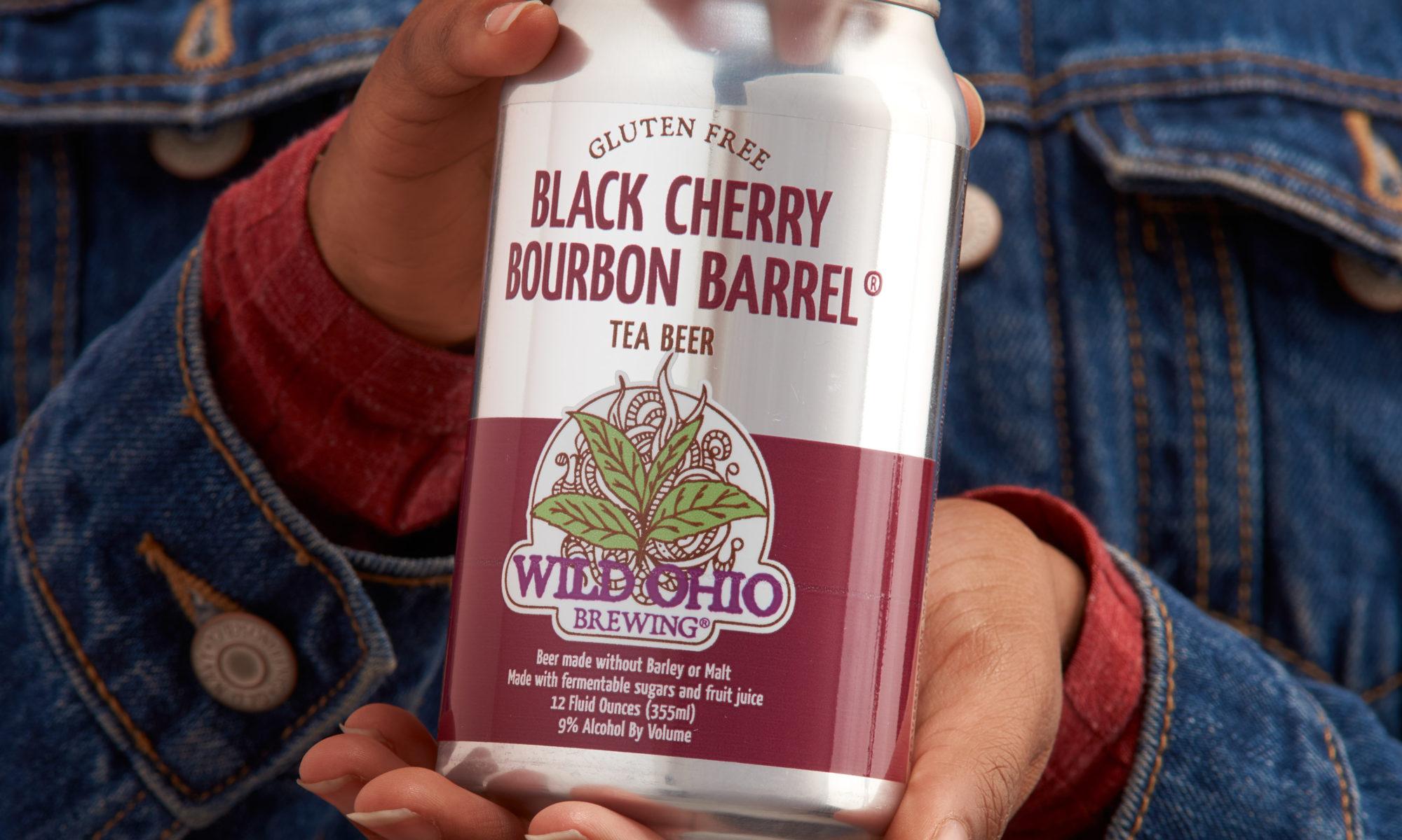 Black Cherry Bourbon Barrel Gluten Free Tea Beer